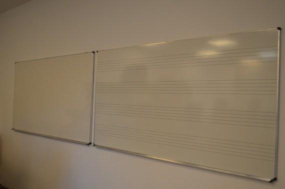 Neue Tafeln für den Musikraum