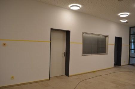 Der Eingangsbereich mit der neuen Infowand!