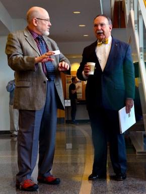 Chancellor Bown Loftin and Jack Schultz, LSSP Epigenetics conference on Saturday, March 14, 2015 - (C) Hannah Baldwin, LSC