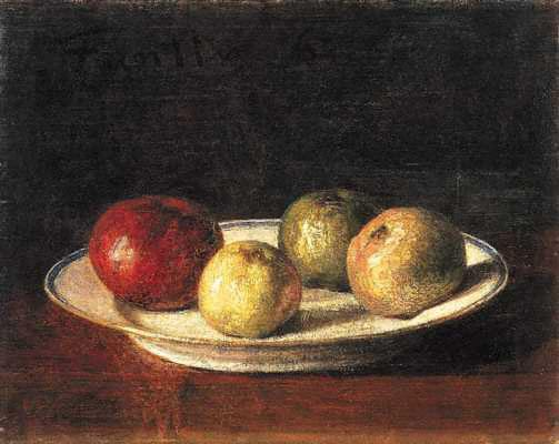 Fantin-Latour - Plate of Apples, Nationl Gallery, xxx
