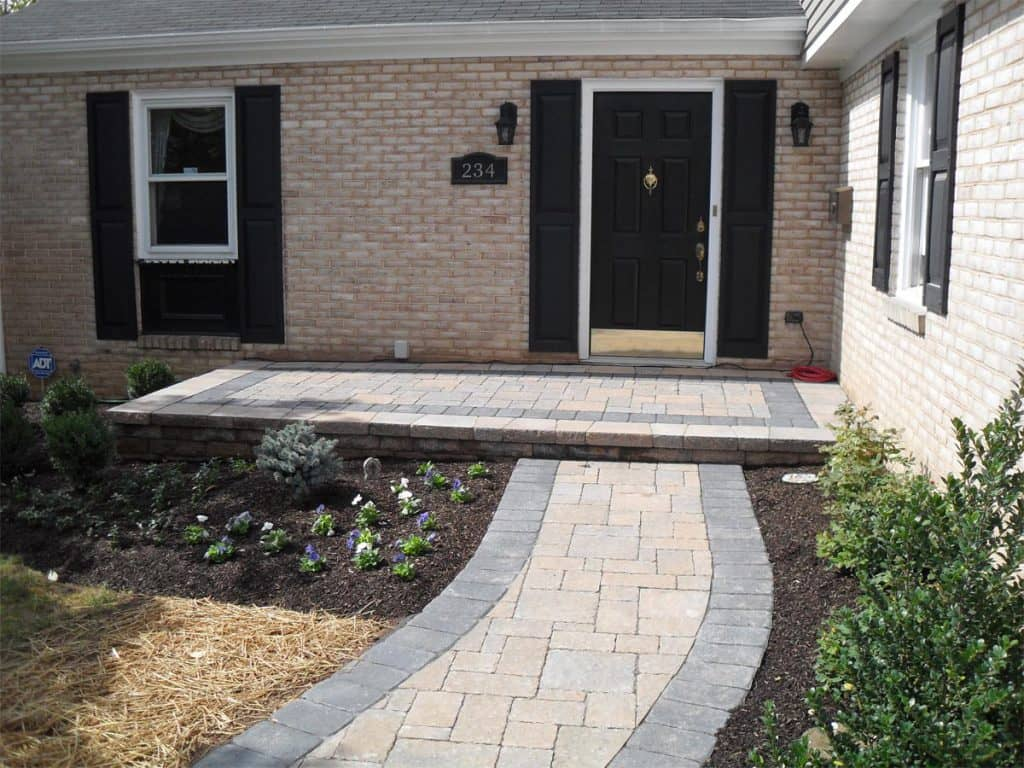 before after paver patios walkways