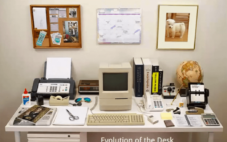 evolution of the desk
