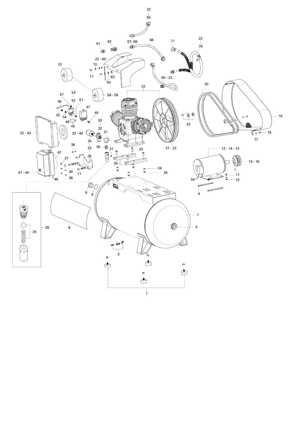 medium resolution of schulz oilless air compressor csw 60 420 15 hp 60 cfm