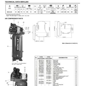 Schulz V-Series 5-HP 80-Gallon Two-Stage Air Compressor 1