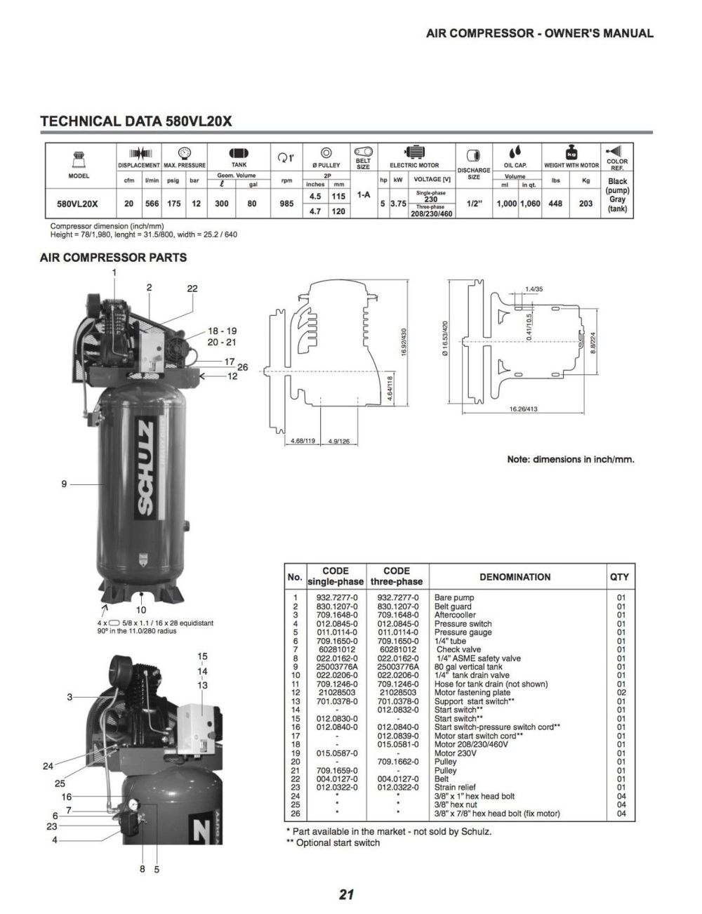medium resolution of schulz compressor wiring diagram for wiring library diagram h7schulz l series 5 hp 80 gallon two