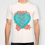 Ribbon Heart T shirt Preview