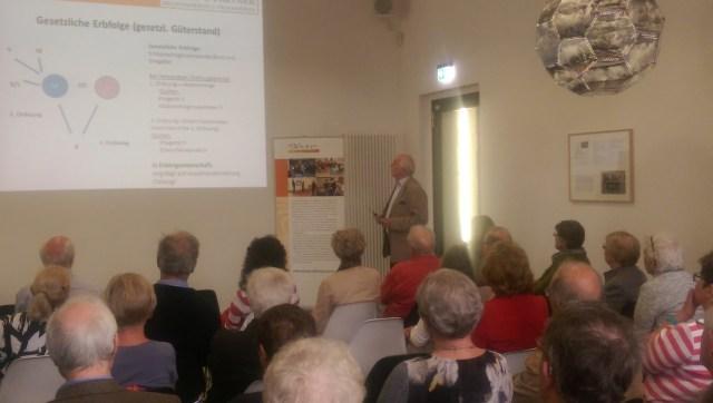 """Veranstaltung """"Streitvermeidung im Erbrecht"""" 07.05.2015"""