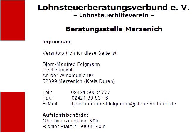 Impressum Lohnsteuerberatungsverbund e. V.