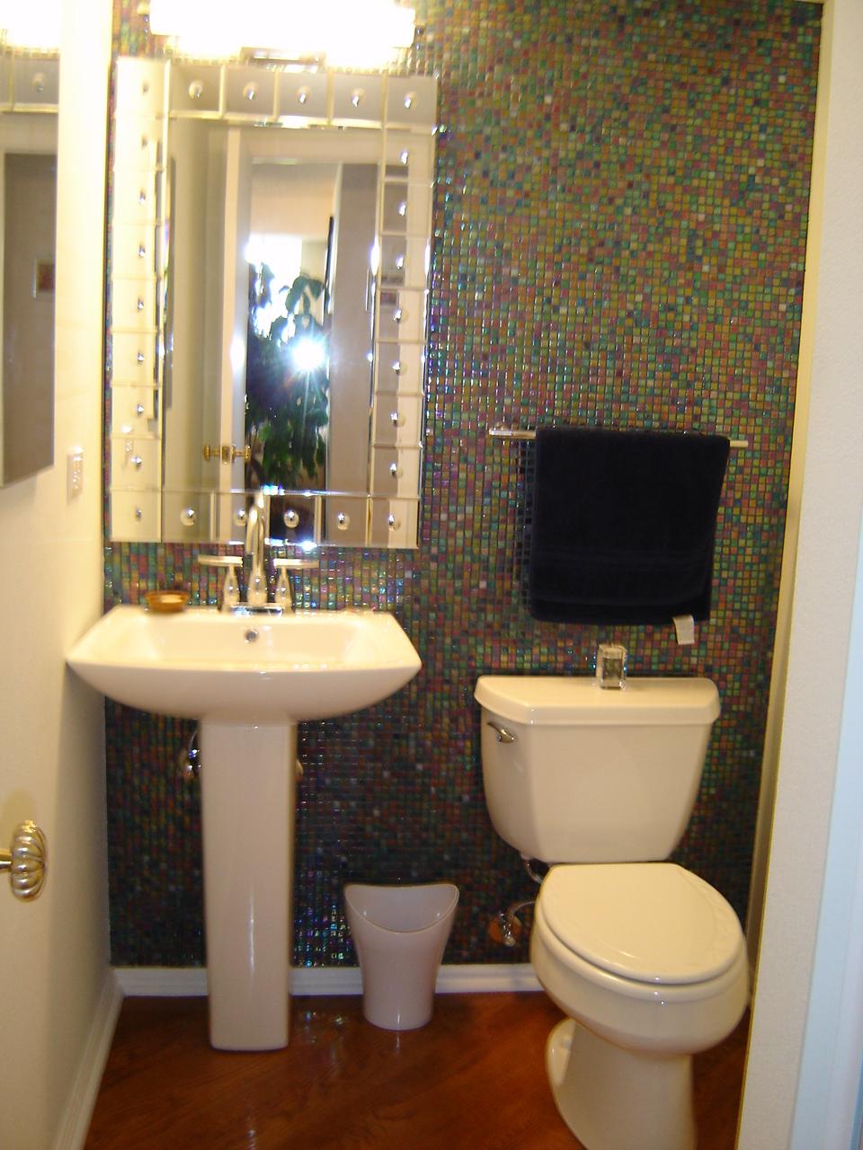 Litwin Powder Room Remodel Denver CO  Schuster Design Studio Inc  Overland Park KS