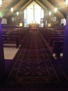 Church gets NEW carpet  Schuster Design Studio Inc