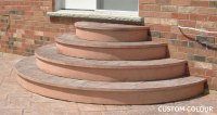 This is a set of cut half circle stairs in Northwest OH ...