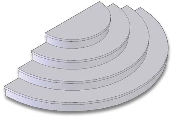 Stacking Steps Half Round Steps Hex Steps Schut S | Half Moon Wood Steps | Wooden | Hexagon | Diy | Outside Corner Deck | Exterior