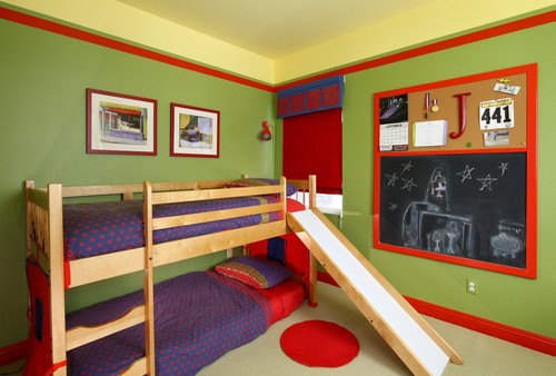 Childrens bedroom - full of color contemporary kids