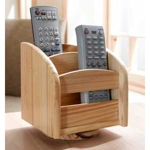 Wooden Remote Control Holder