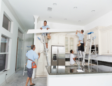 Tasks like installing crown moulding usually take a team of two or more, but the CT Wings allow you to easily tackle projects on your own. ©iStockphoto.com/Jodi Jacobson