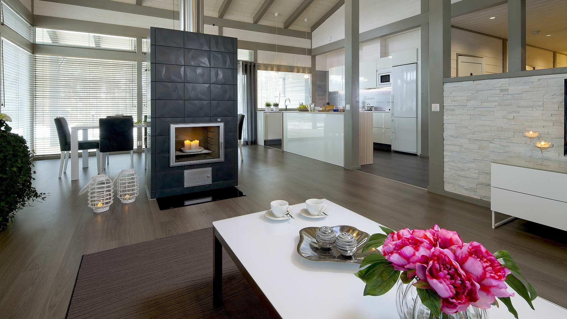 Moderne Woonkamer Met Open Keuken