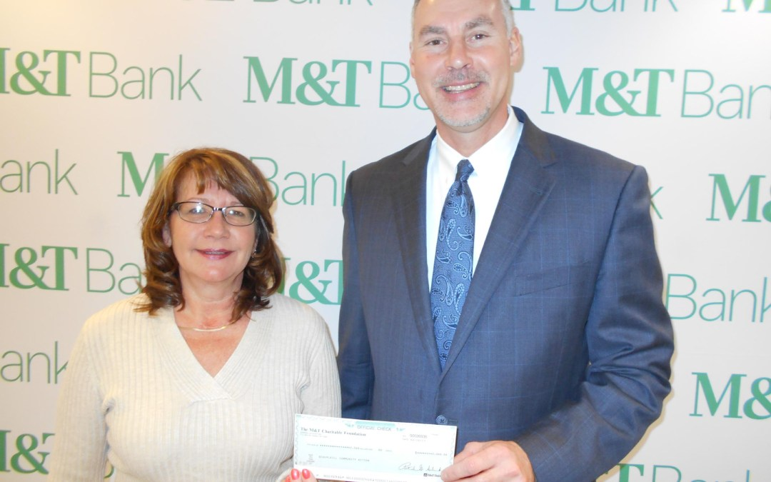 M&T Bank Presents Check for Homebuyers Workshop