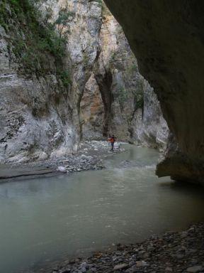 Najužšia časť kaňona