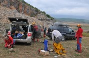 Príprava na mapovanie jaskyne