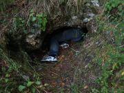 V jaskyniarskej výstroji...