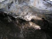 Biela výzdoba jaskyne
