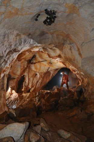 Jano v chodbe vedúcej k povrchu (perspektívny nový vchod)
