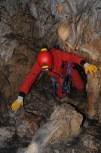 Ivan v najužšej časti jaskyne