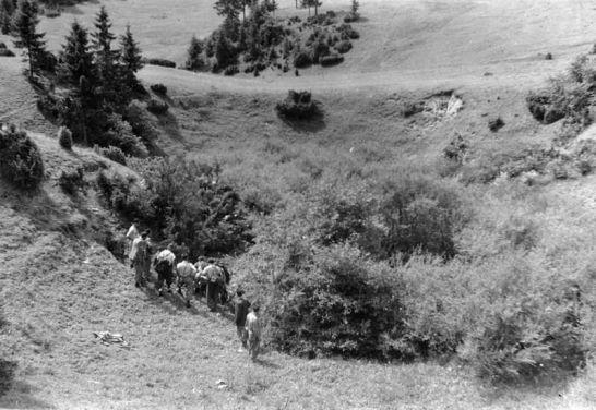 II.jaskyniarsky, na Svoradi, foto Karol Sochúrek - 22.-27.7.1951