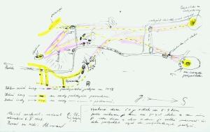 Náčrt Prosieckej doliny O.Uhríka z roku 1968