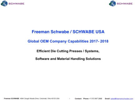 2017-2018 Freeman Schwabe Company Capabilities March 2017.001
