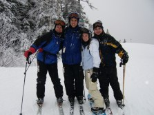 Dad & sibs skiing in ME