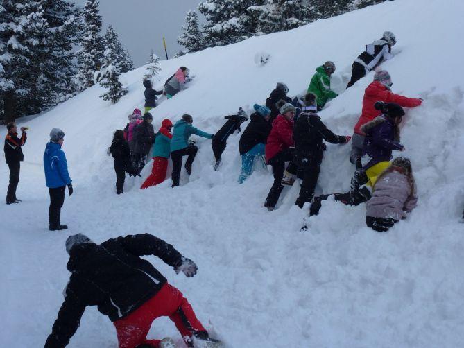 Mit der Klasse zum Skifahren