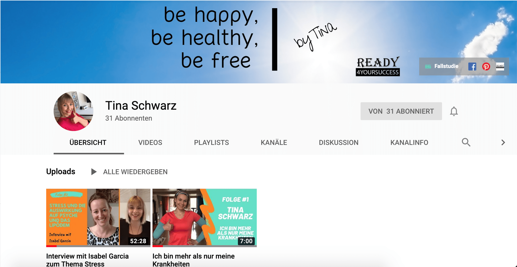 YouTube-Channel-Tina