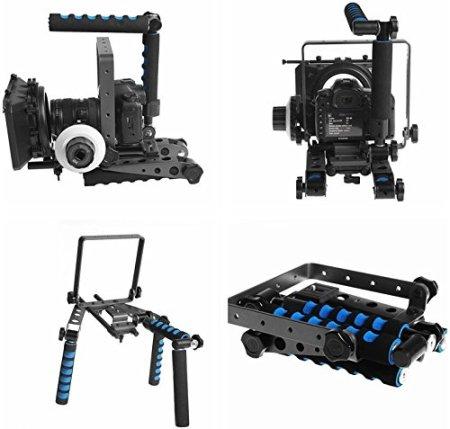 Morros DSLR Rig Spinne DR-2-Schulter-Rig Unterstützung Stabilisator für DSLR-Kameras und Camcorder -