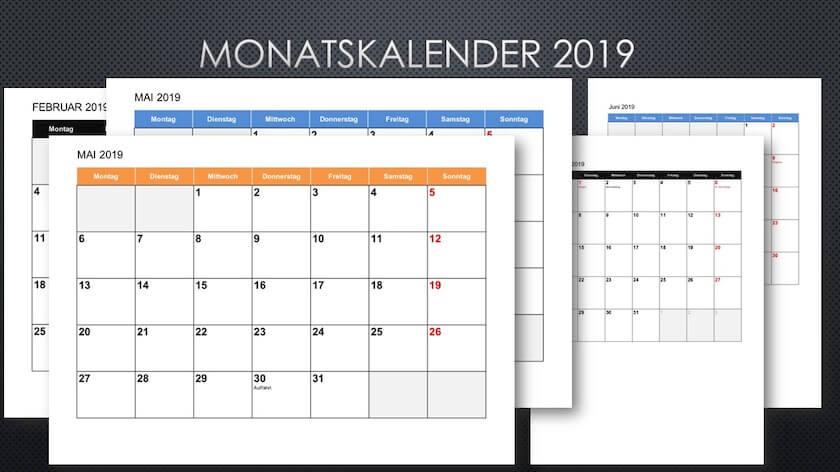 Monatskalender 2021 Zum Ausdrucken Kostenlos  Kalender