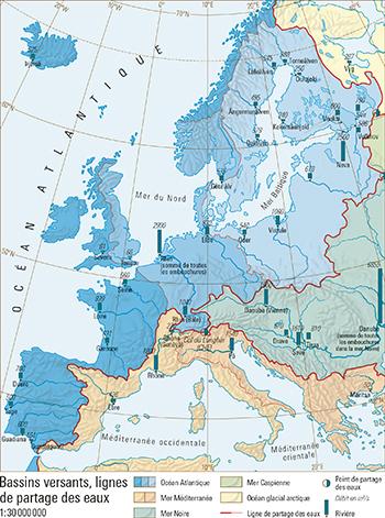 La Ligne De Partage Des Eaux : ligne, partage, Bassins, Versants,, Lignes, Partage, ATLAS, MONDIAL, SUISSE