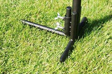 Edelstahl Grillgalgen + 70 cm Grill nur 14mm Stababstand Gartengrill Grill Grillrost Schwenkgrill Schwenker BBQ - 4