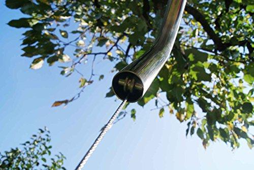 Edelstahl Schwenker Galgen - Edelstahl Grillgalgen + 70 cm Grill nur 14mm Stababstand Gartengrill Grill Grillrost Schwenkgrill Schwenker BBQ - 6