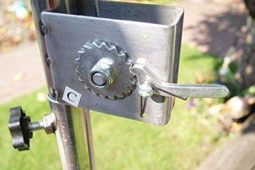Edelstahl Grillgalgen + 70 cm Grill nur 14mm Stababstand Gartengrill Grill Grillrost Schwenkgrill Schwenker BBQ - 7