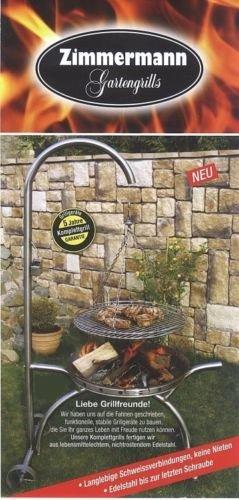 Kettenkit Seilwirbel Kette Schwenkgrill für Rost und Pfanne bis 60 cm -
