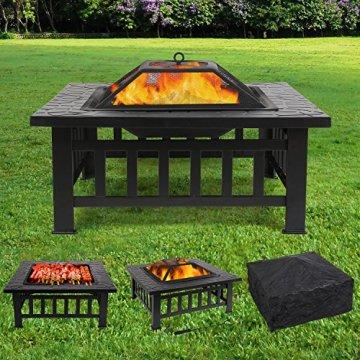 Femor Garten Feuerschale Quadratischer Terassenofen
