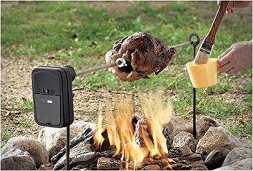 Landmann Gasgrill Drehspieß : Elektrisch rotierender grillspieß mit motor von grizzly