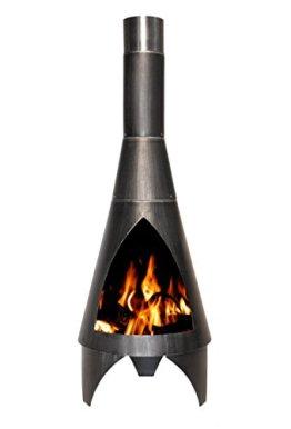 Buschbeck Feuerstelle, Gartenkamin Colorado, silber / schwarz, 45 x 45 x 125 cm, 90050.000 - 1