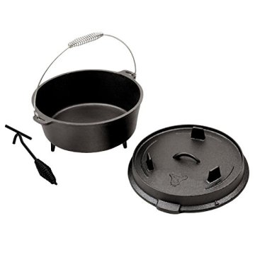 BBQ-TORO Dutch Oven Premium Serie, Größenauswahl, Gusseisen Kochtopf Bräter mit Deckelheber (ca. 9 Liter) - 2