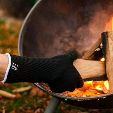 Garcon Grillhandschuhe hitzebeständig bis zu 500 Grad - 36 cm Extra Lang - Hochwertige Kaminhandschuhe in Geschenk Box - 2