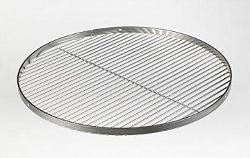 Grillrost Edelstahl 60cm Schwenkgrill Dreibein mit 3 Löcher für Hacken im Aussenring zum Aufhängen - 3