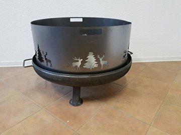 Czaja Stanzteile Funkenschutz Wild (80 cm) Feuerschale - 1