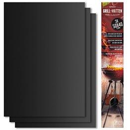 BeeClean BeeProducts Grillmatte (3er Set) 40x50 cm Extra Groß Zum Grillen und Backen - 1