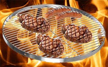 Brandsseller Edelstahl Grillrost Schwenkgrill geeignet - Rostfrei Edelstahl 18/0 Asi 430 Nickel frei - Ø 70 cm - 9