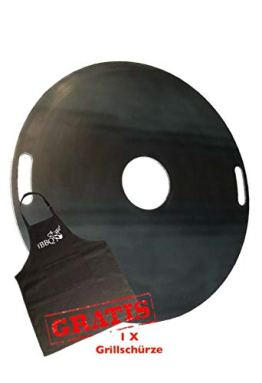 A. Weyck Tools Feuerplatte 80cm für Feuertonnen & Kugelgrills Grillplatte Plancha BBQ - 1